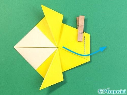 折り紙でインコの折り方手順20