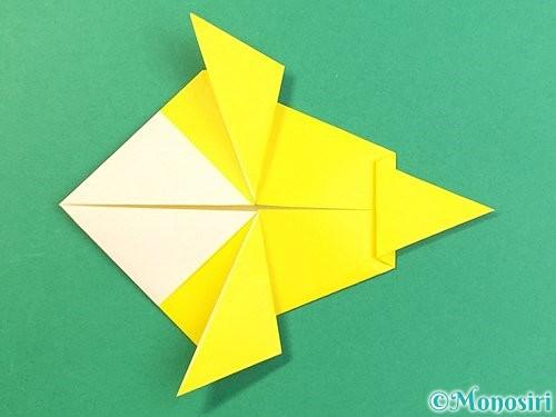 折り紙でインコの折り方手順21