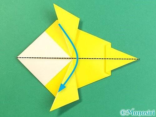 折り紙でインコの折り方手順22