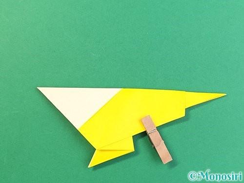 折り紙でインコの折り方手順23