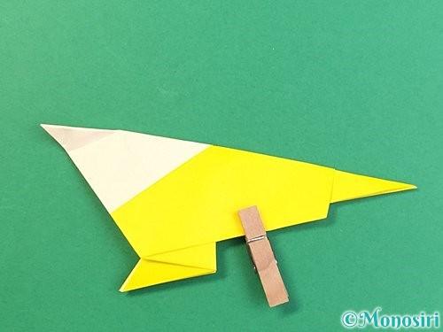折り紙でインコの折り方手順25