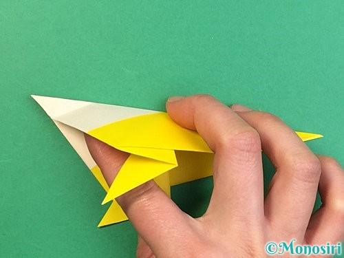 折り紙でインコの折り方手順26