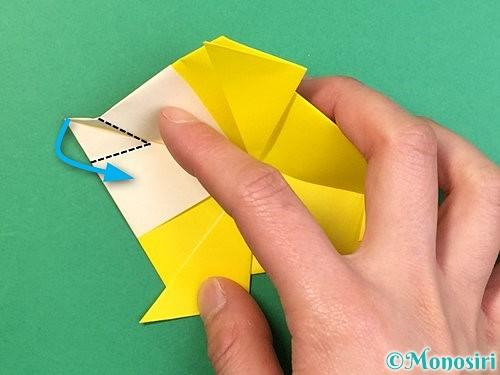 折り紙でインコの折り方手順27