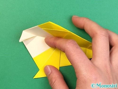 折り紙でインコの折り方手順28