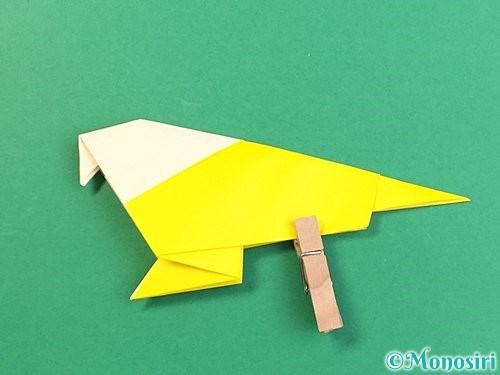 折り紙でインコの折り方手順29