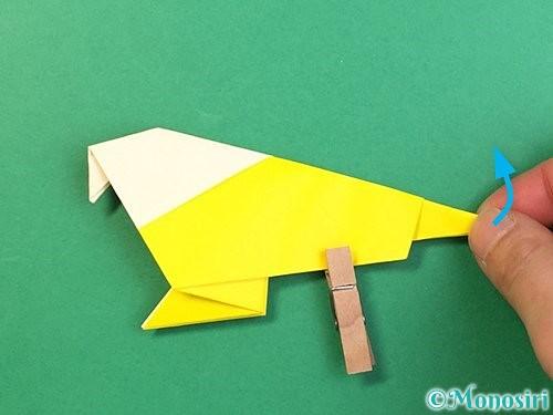 折り紙でインコの折り方手順30