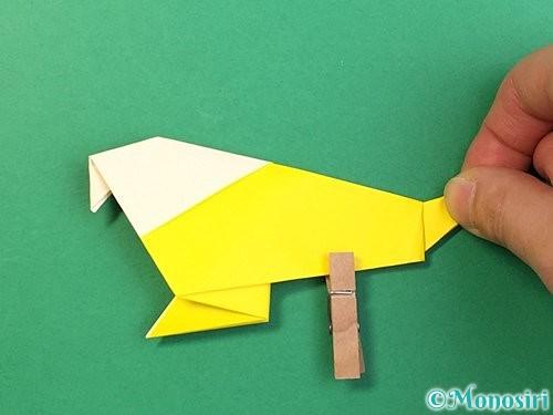 折り紙でインコの折り方手順31