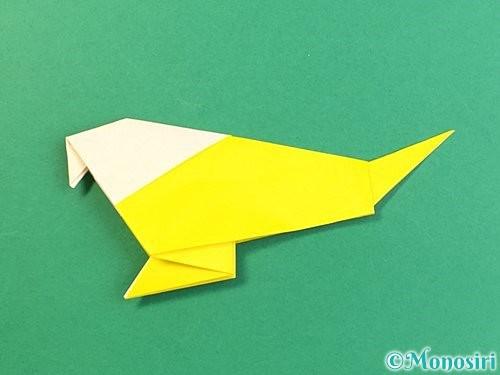 折り紙でインコの折り方手順32