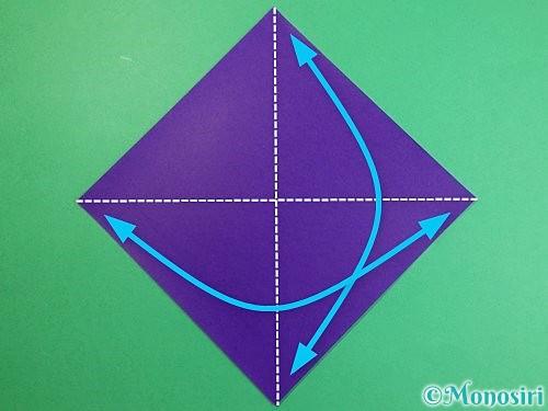 折り紙でカラスの折り方手順1