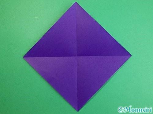 折り紙でカラスの折り方手順2