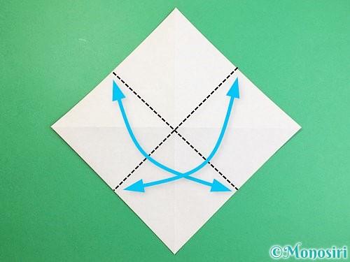 折り紙でカラスの折り方手順4