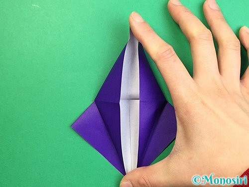 折り紙でツバメの折り方手順14