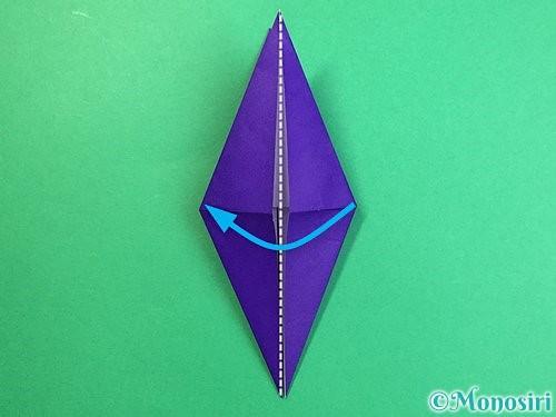 折り紙でカラスの折り方手順17