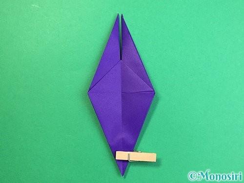 折り紙でカラスの折り方手順19