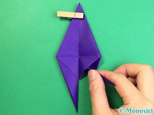 折り紙でカラスの折り方手順22
