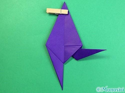 折り紙でカラスの折り方手順23