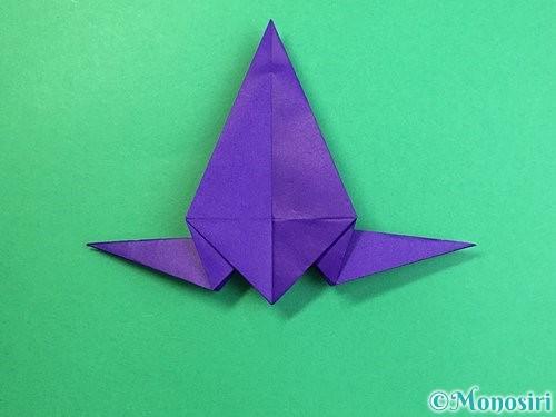 折り紙でカラスの折り方手順29
