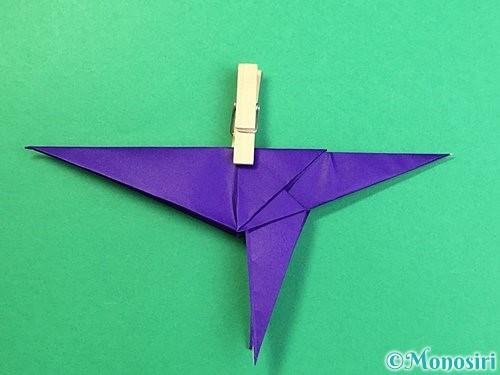 折り紙でカラスの折り方手順34