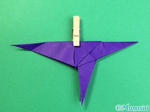 折り紙でカラスの折り方手順36