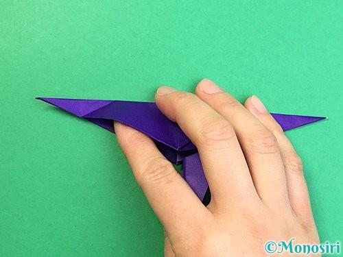 折り紙でカラスの折り方手順37