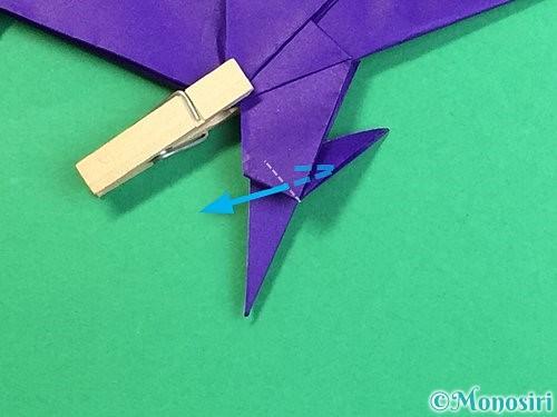 折り紙でカラスの折り方手順43