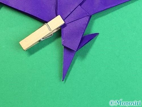折り紙でカラスの折り方手順42