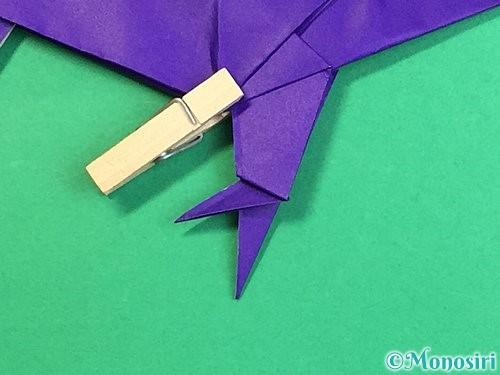 折り紙でカラスの折り方手順44
