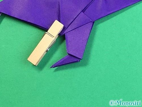 折り紙でカラスの折り方手順45
