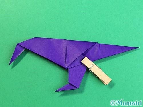 折り紙でカラスの折り方手順46
