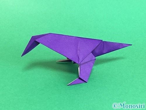 折り紙でカラスの折り方手順47