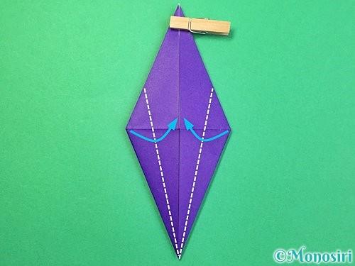 折り紙でツバメの折り方手順17