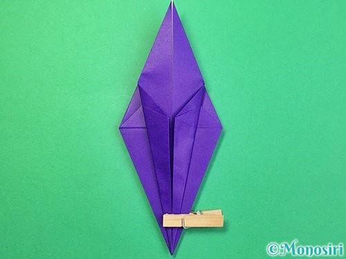 折り紙でツバメの折り方手順18