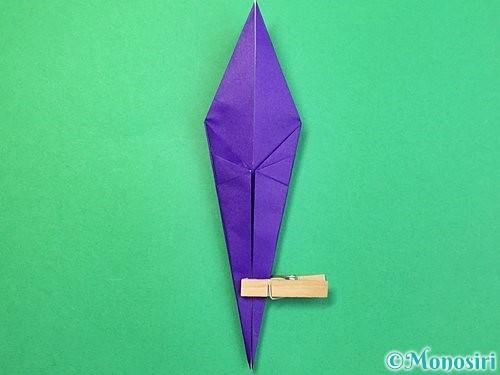 折り紙でツバメの折り方手順19