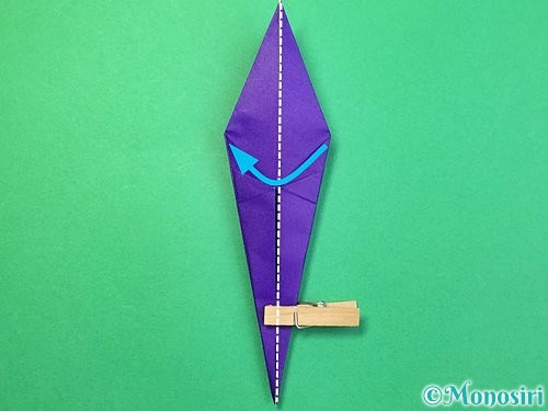 折り紙でツバメの折り方手順20
