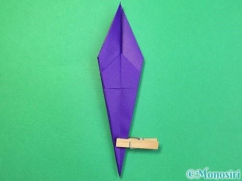 折り紙でツバメの折り方手順21