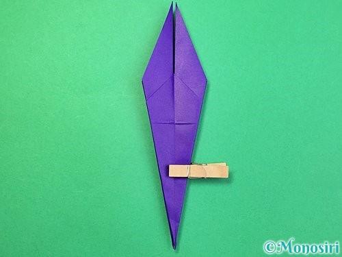 折り紙でツバメの折り方手順22