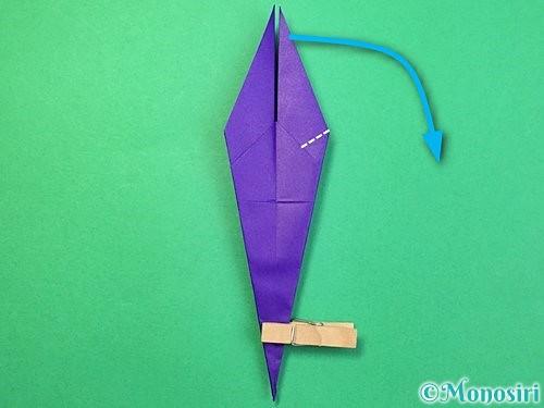 折り紙でツバメの折り方手順23