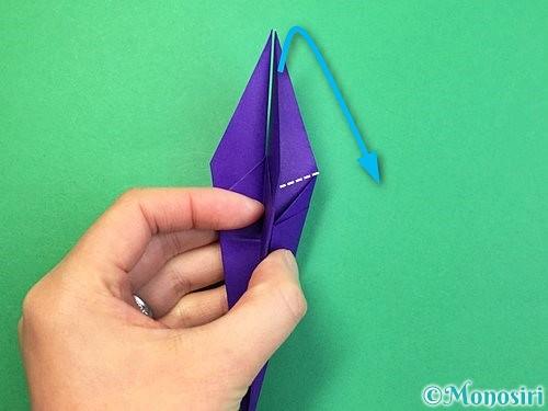 折り紙でツバメの折り方手順24