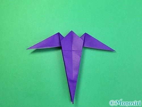 折り紙でツバメの折り方手順28