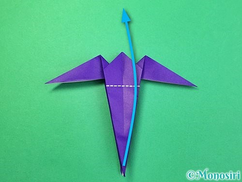 折り紙でツバメの折り方手順29