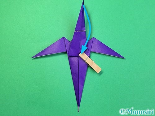 折り紙でツバメの折り方手順31