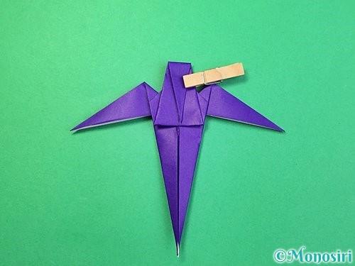 折り紙でツバメの折り方手順32