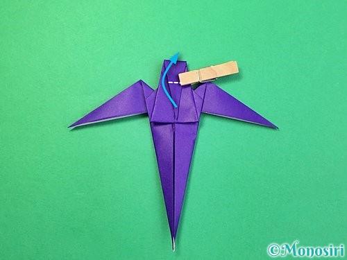 折り紙でツバメの折り方手順33