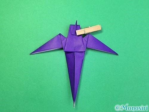 折り紙でツバメの折り方手順34