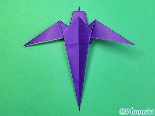 折り紙でツバメの折り方手順35