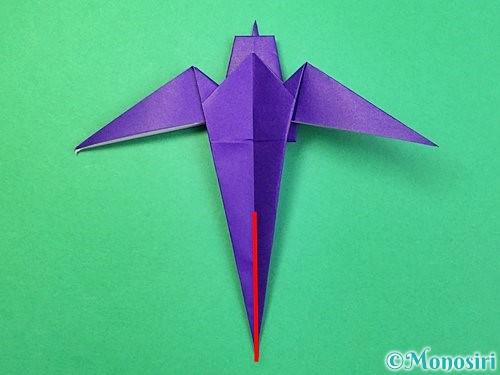 折り紙でツバメの折り方手順36