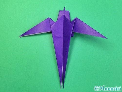 折り紙でツバメの折り方手順37