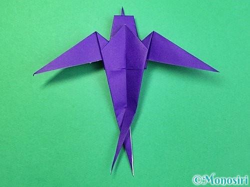 折り紙でツバメの折り方手順38