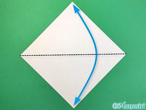 折り紙で白鳥の折り方手順1