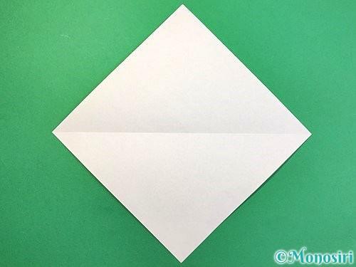 折り紙で白鳥の折り方手順2